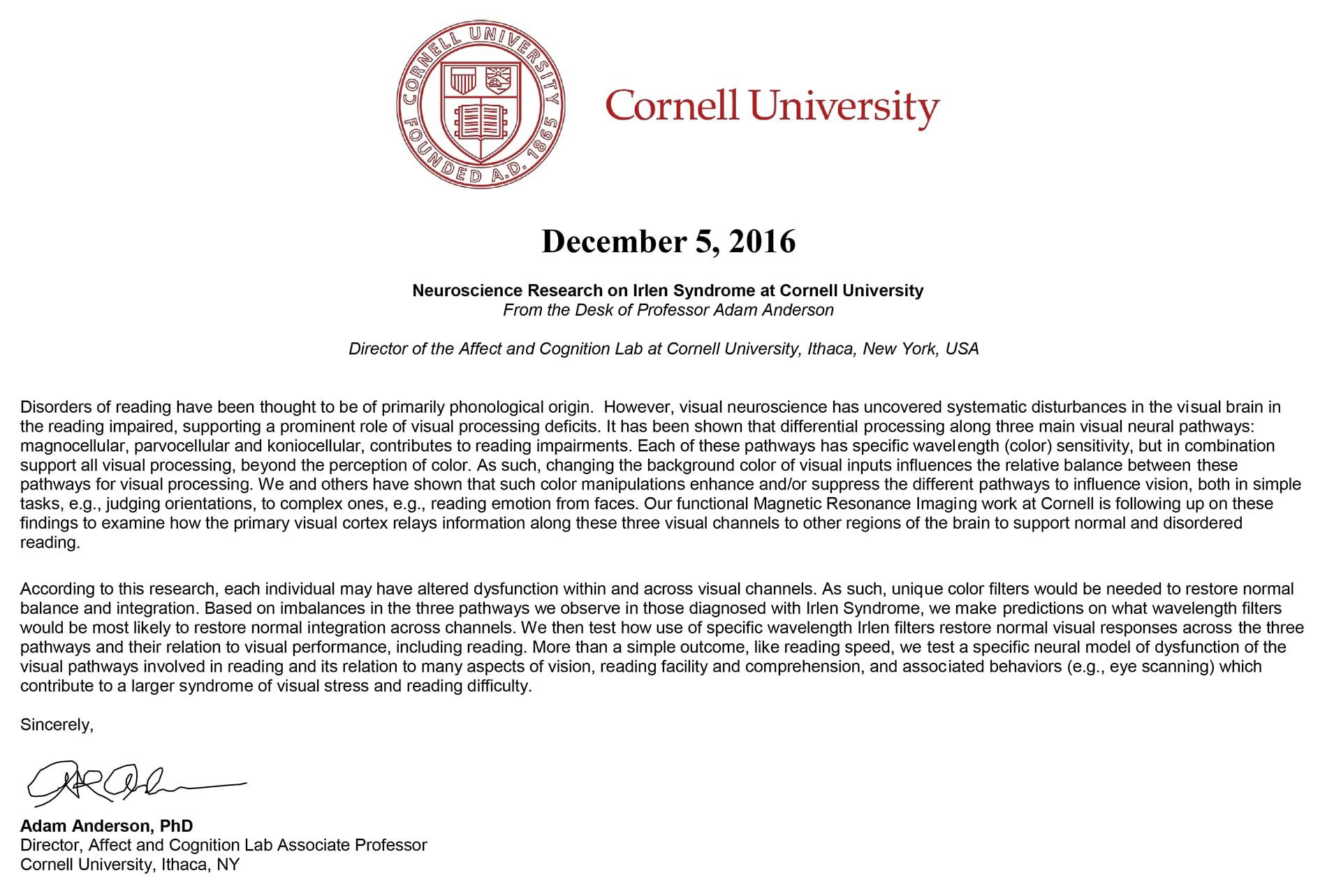 cornell university certificate
